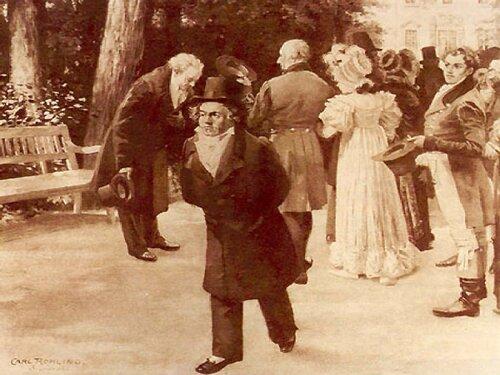 Carl Rohling. Инцидент в Теплице (Бетховен, Гёте и императорская семья)