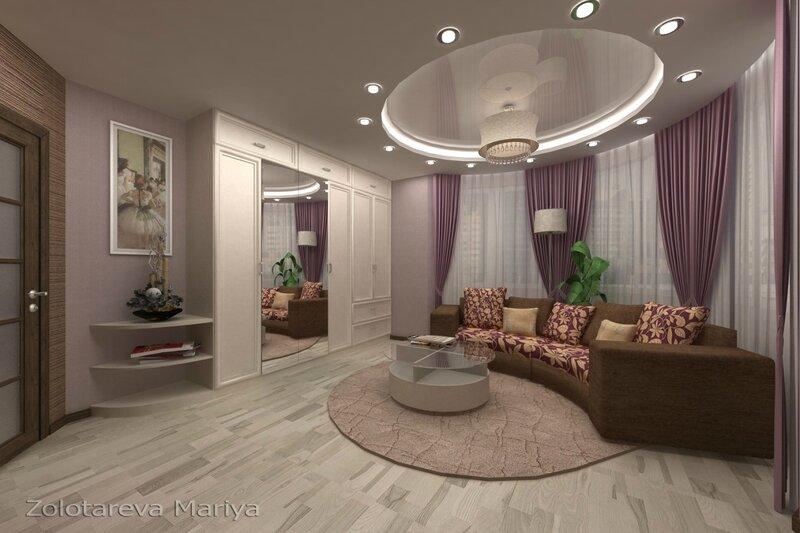 Интерьер гостиной в классическои стиле