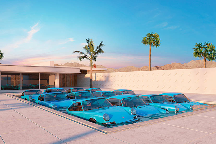 Surreal Compositions with Porsches by Chris Labrooy (5 pics)