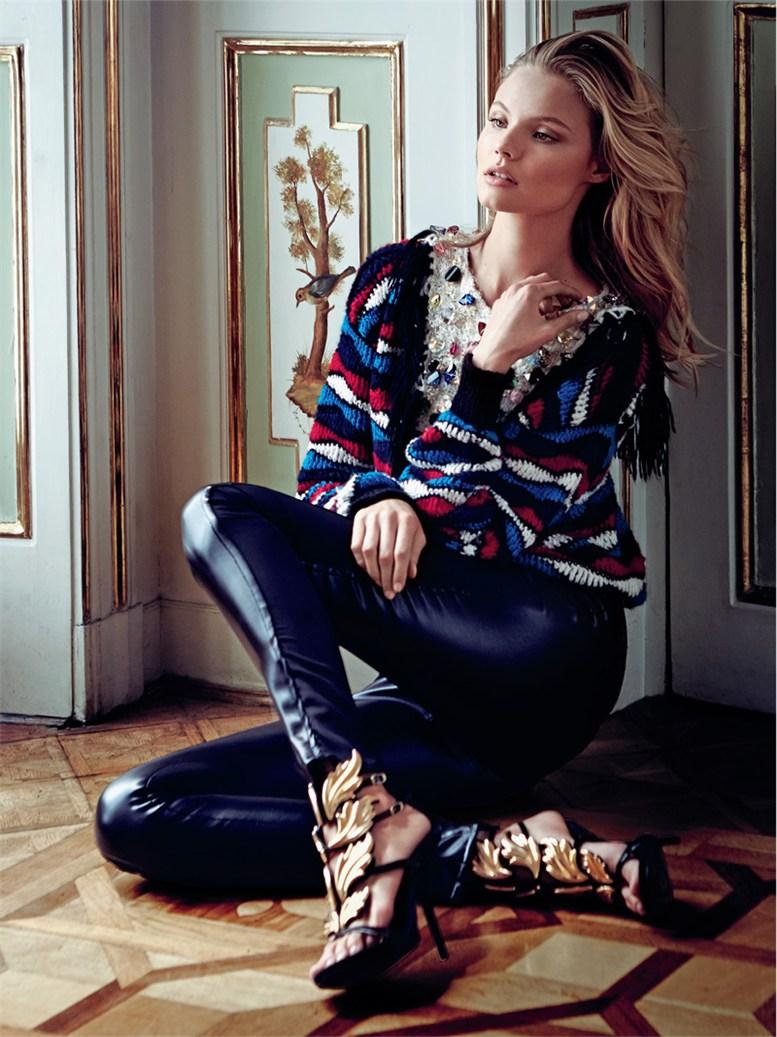 Magdalena Frackowiak / Магдалена Фраковяк в журнале Elle Poland, сентябрь 2013 / фотограф  Magdalena Luniewska