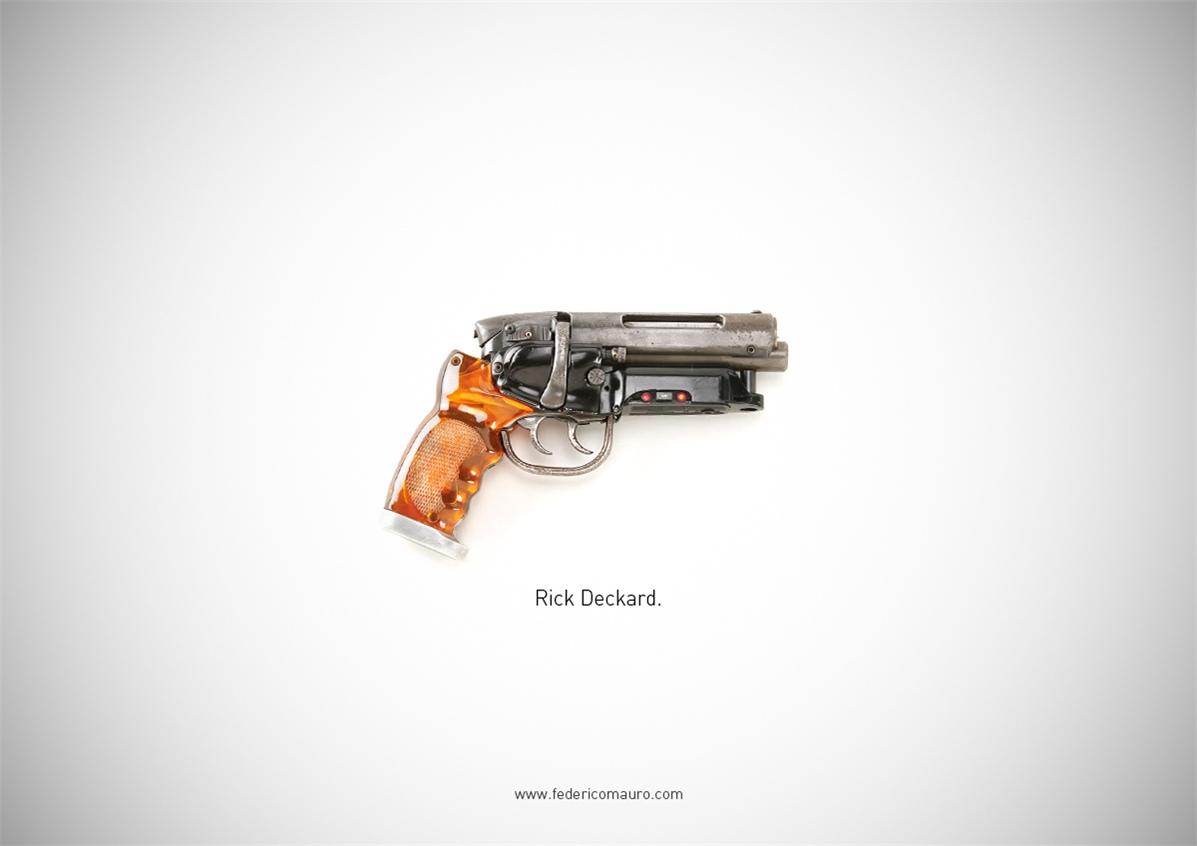 Знаменитые пушки - оружие культовых персонажей / Famous Guns by Federico Mauro - Rick Deckard (Blade Runner)