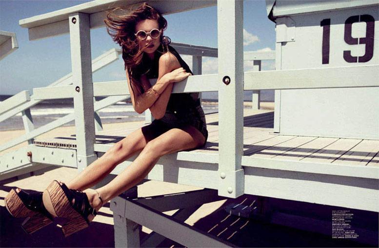 модель Бехати Принслу / Behati Prinsloo, фотограф Bjarne Jonasson