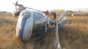 В Приморье во время ремонта вертолет завалился на бок