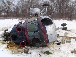 В Хабаровске проводится процессуальная проверка по факту опрокидывания вертолета МИ-2 в Приморье