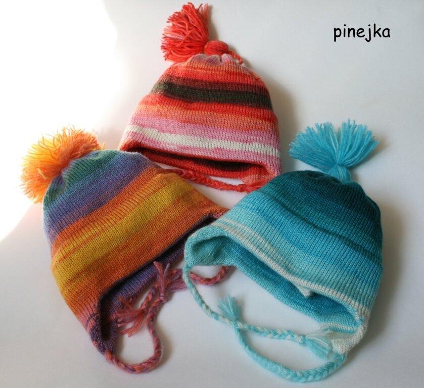 вязанные шапочки для новорожденных