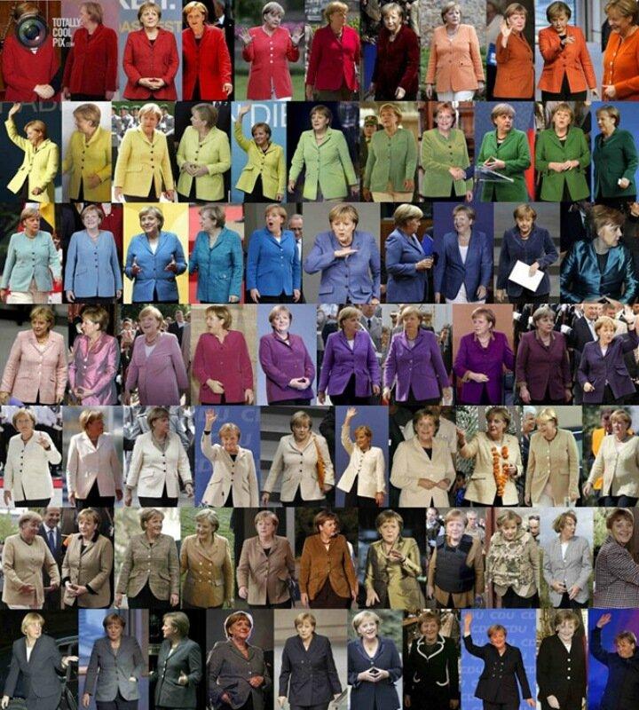 Пиджаки федерального канцлера Германии Ангелы Меркель