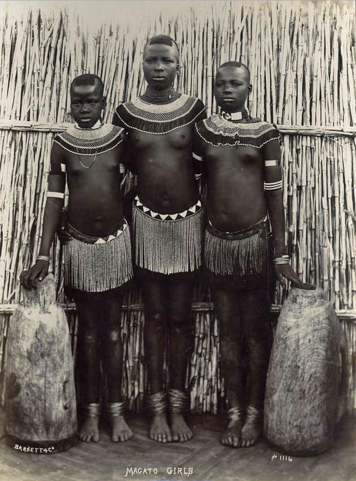 Девушки племени Магато. Южная Африка, последняя четверть XIX века