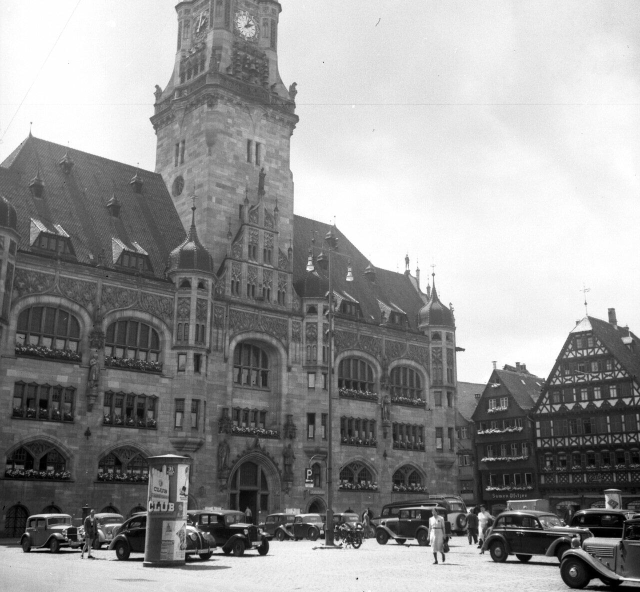 1936. Штутгарт, Рыночная площадь, Ратуша