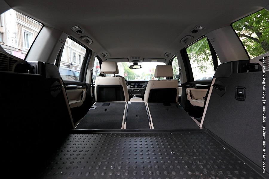 багажное отделение BMW X3 xDrive30d