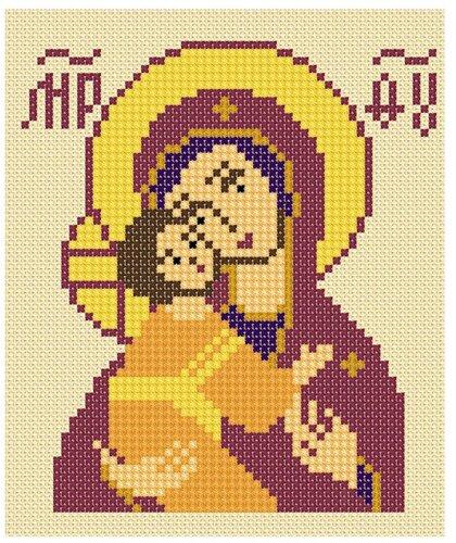 Схема вышивки крестом иконы маленькие