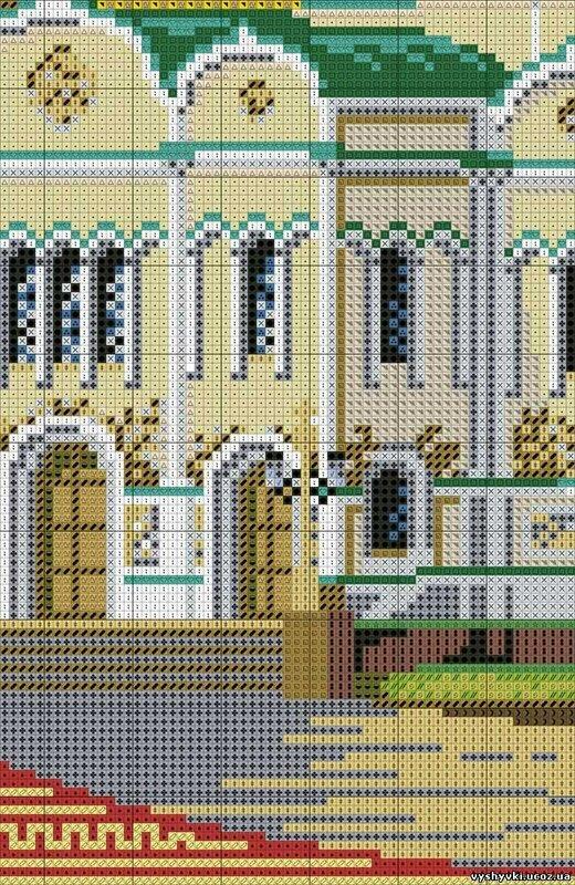Схема вышивки храм христа 117