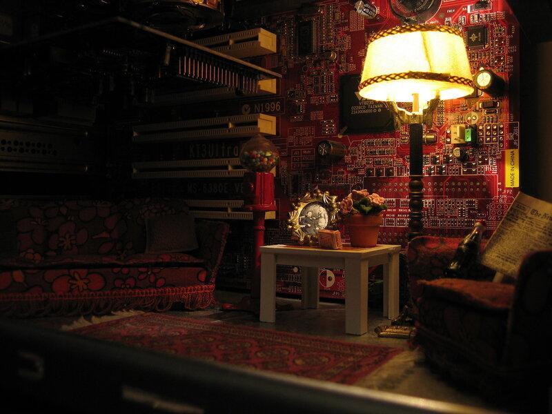 Крошечная гостиная внутри компьютера