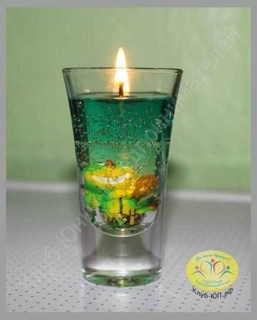 Как сделать гелевую свечу в домашних условиях