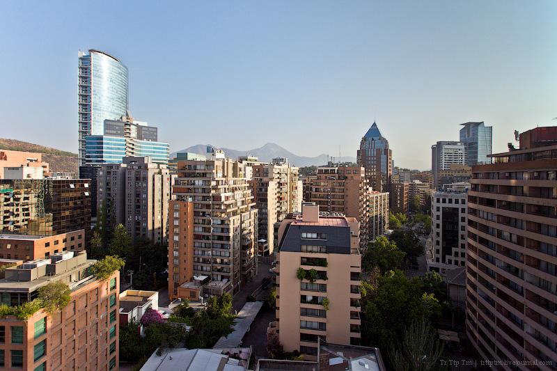 1. От небоскрёбов к трущобам Сантьяго.