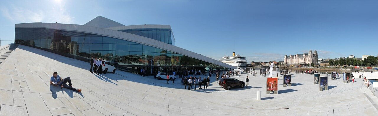 Oslo, Opera House. Осло,Оперный театр,panorama