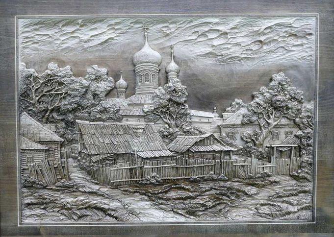 Резные картины. Виктор ДУБОВИК