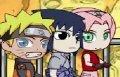 Наруто чиби драка, камень, ножницы, бумага (Naruto game)