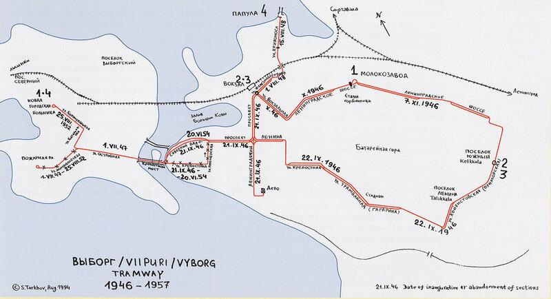 43. Схема трамвайных линий