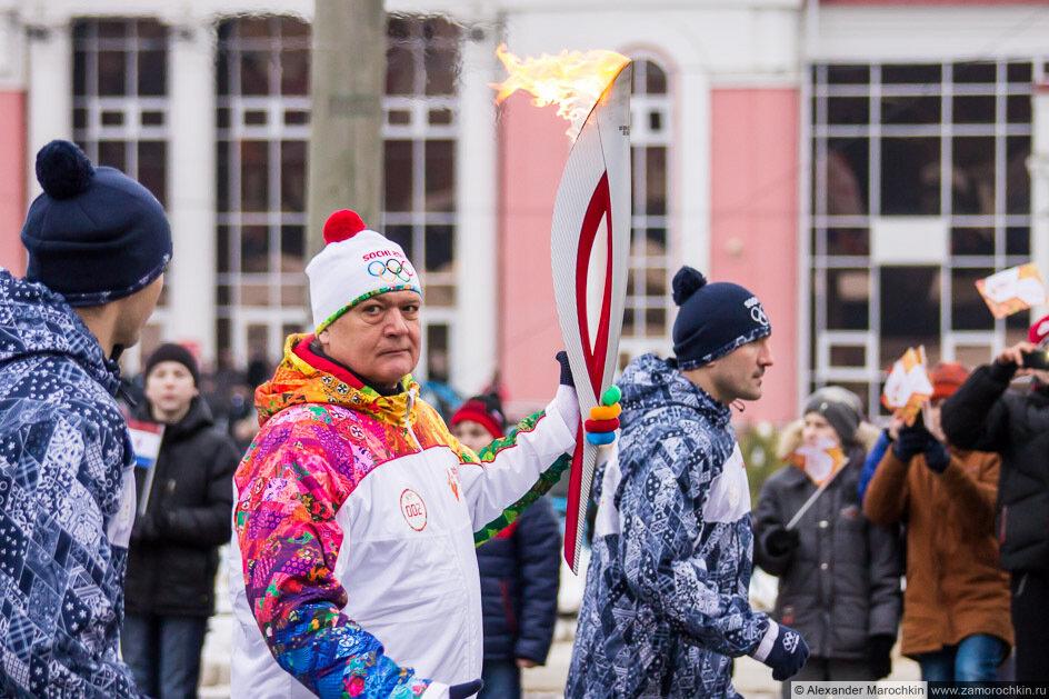 Олимпийский факел в Саранске