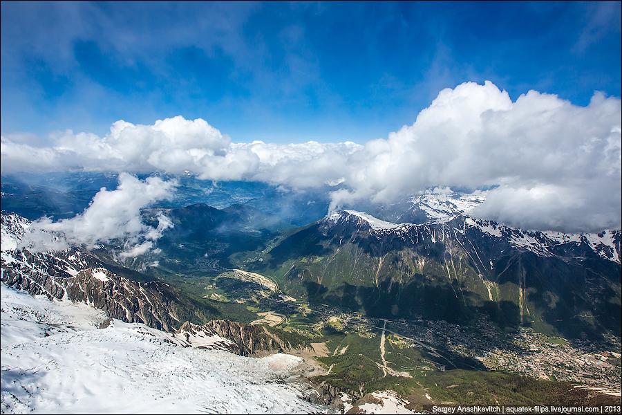 Альпы под облаками