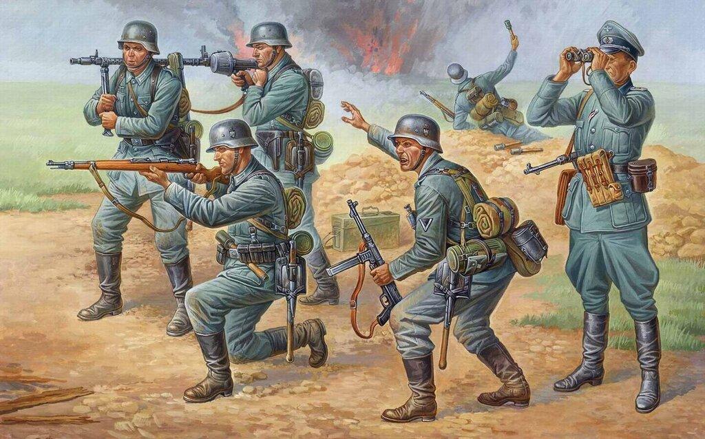 Немецкие пехотинцы в бою (Олег Федоров)