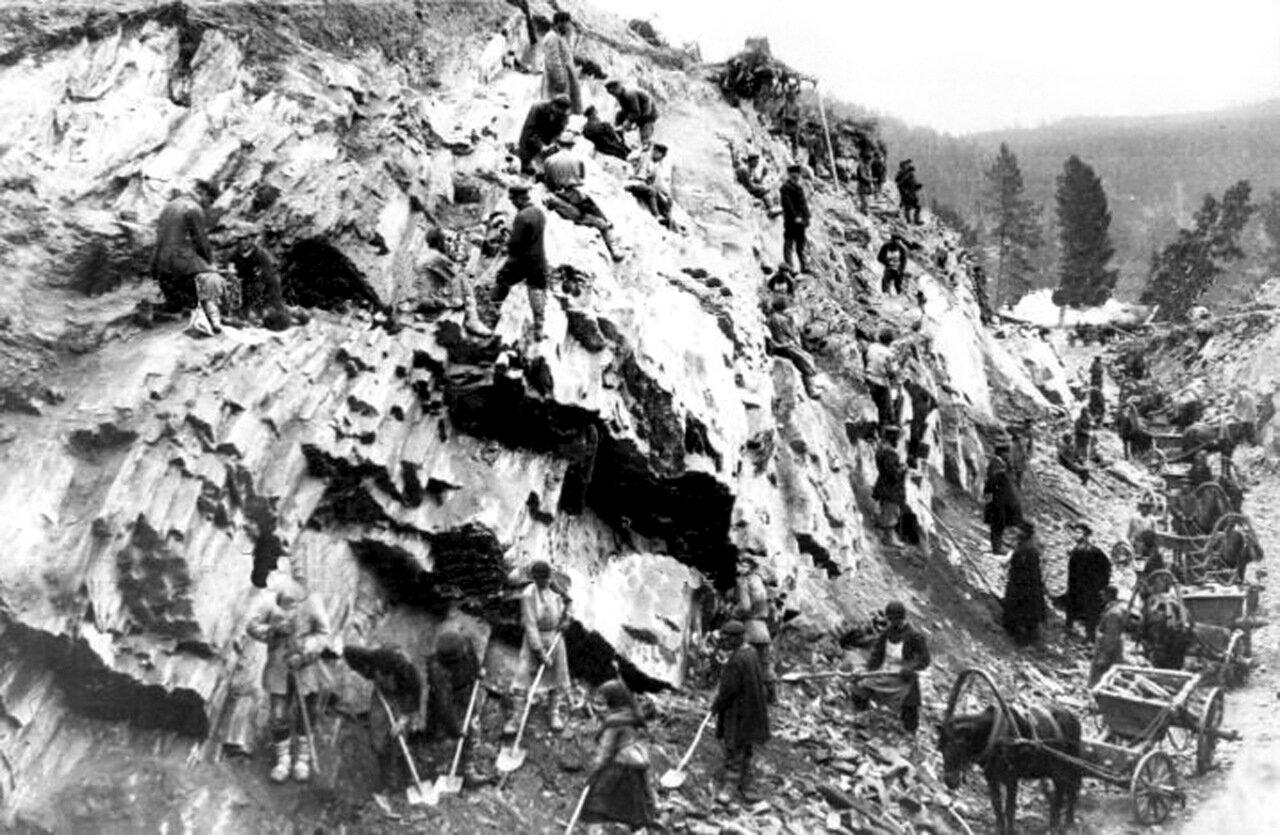 Выемка в г. Косотур. Конец 1880 гг.