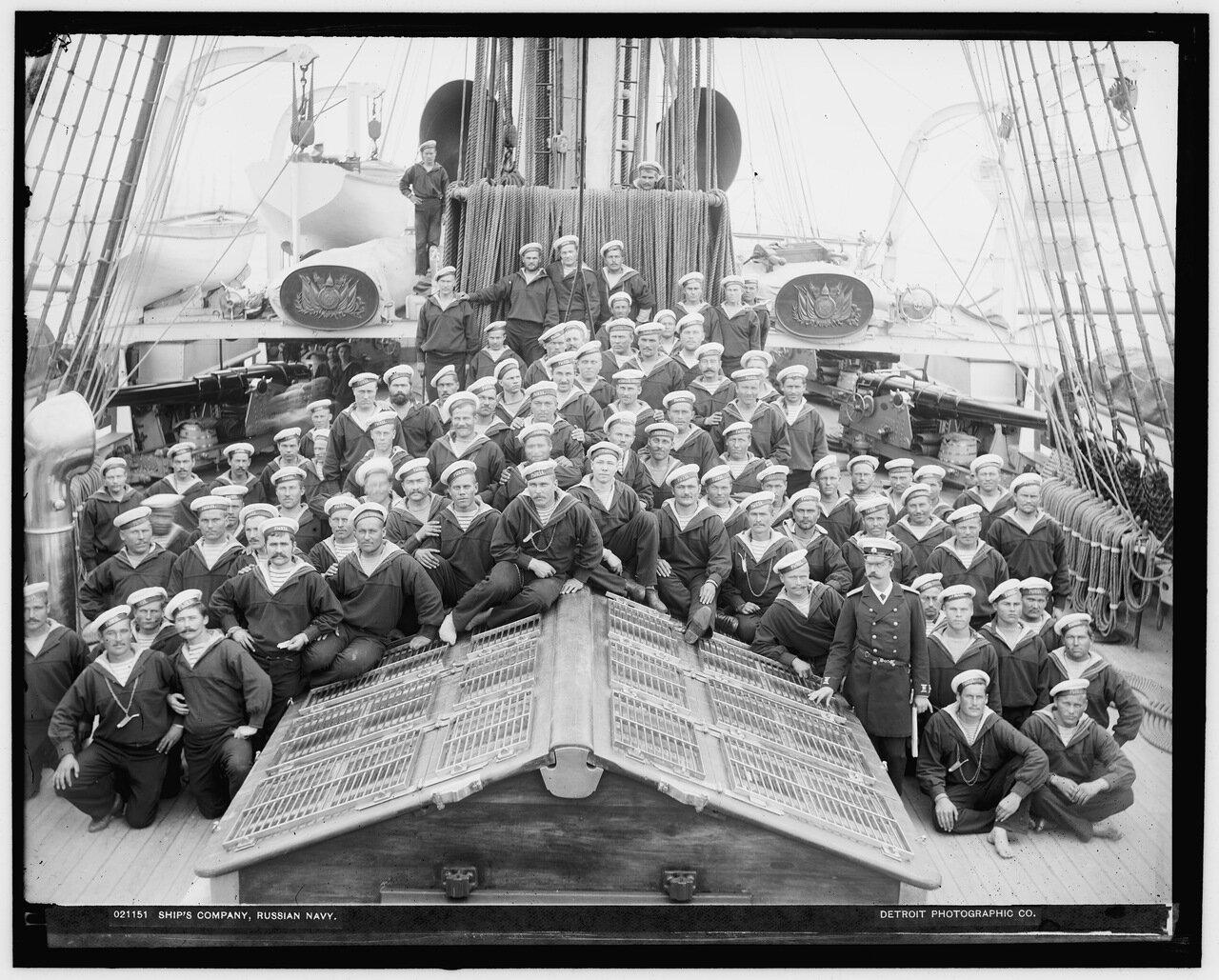 Моряки с крейсера Рында