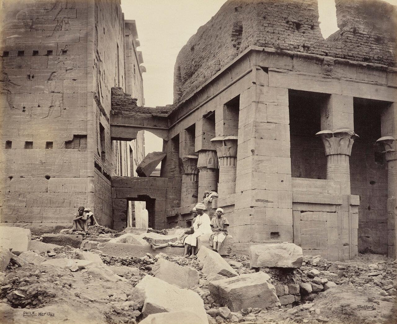 13 марта 1862. Часовня Гора на северной стороне двора храма Исиды.Филе