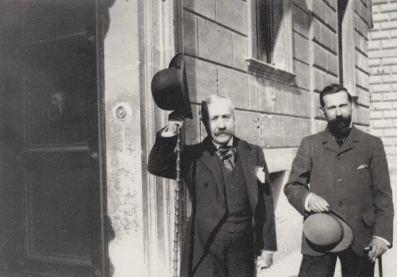 Аттилио Луццато (слева) и граф Бертолетти