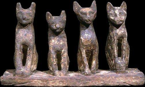 Древний Египет, XXVI династия. 6 в. до н. э., храмовые фигурки