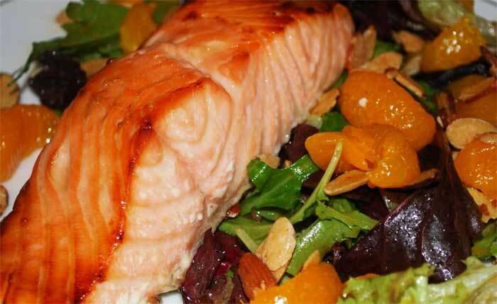 Наслаждение из филе лосося