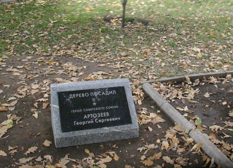 Фотофакт: В Запорожье подписали дубы, высаженные освободителями города, фото-1