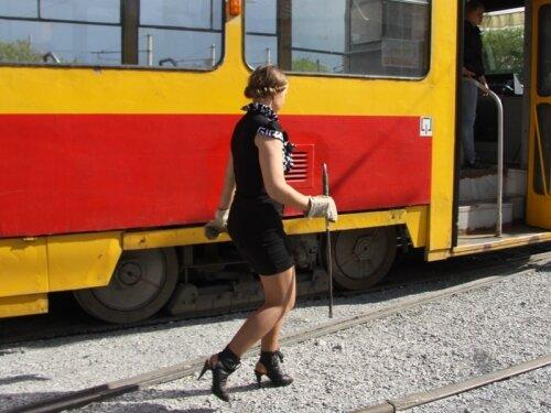 Водитель трамвая в Барнауле
