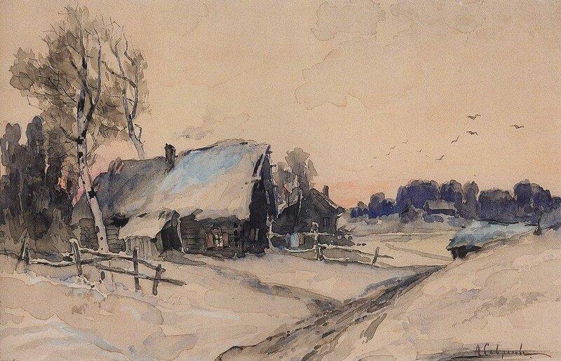 Деревня зимой. 1880-1890-е.jpg
