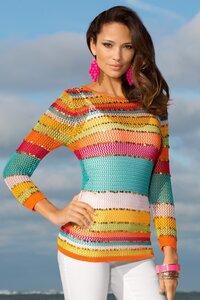Переливы радуги – свитер спицами от Boston Proper
