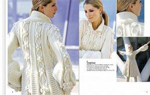 Белое пальто спицами - сказка из PHILDAR Наши воплощения