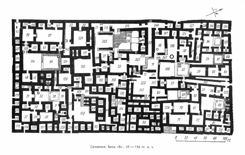 Селевкия, жилой квартал 4-ого периода, план