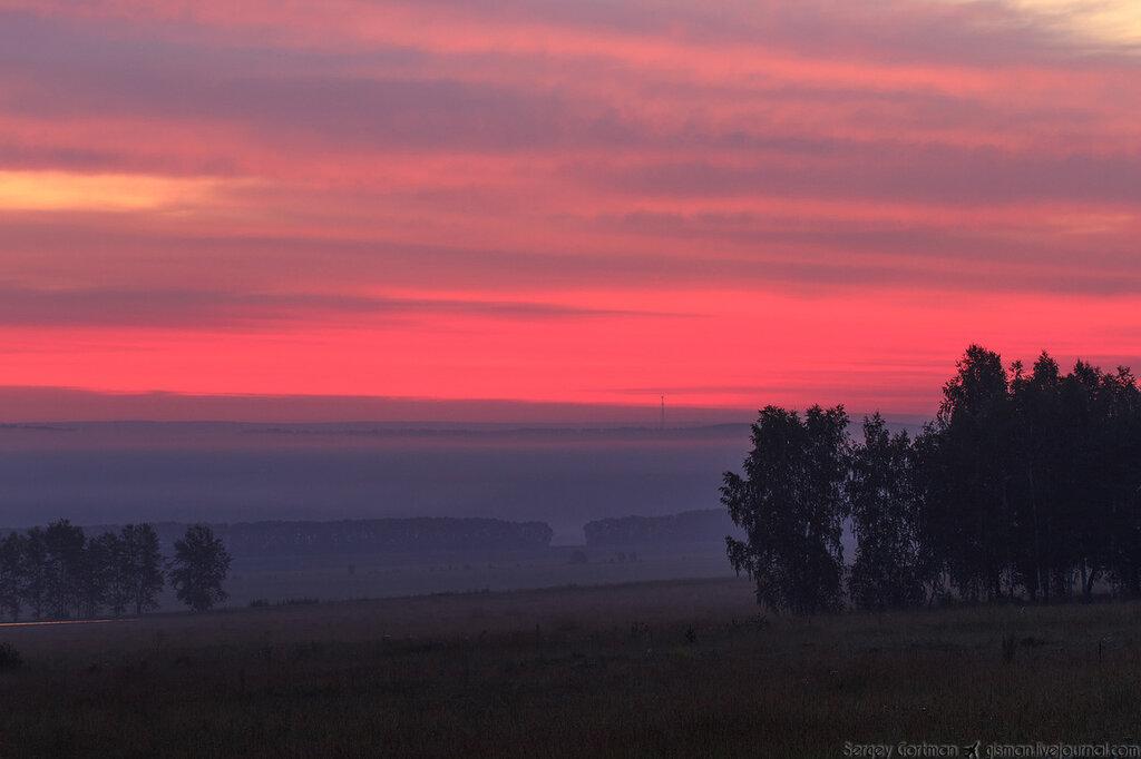 Туманный Емельяново встречает рассвет