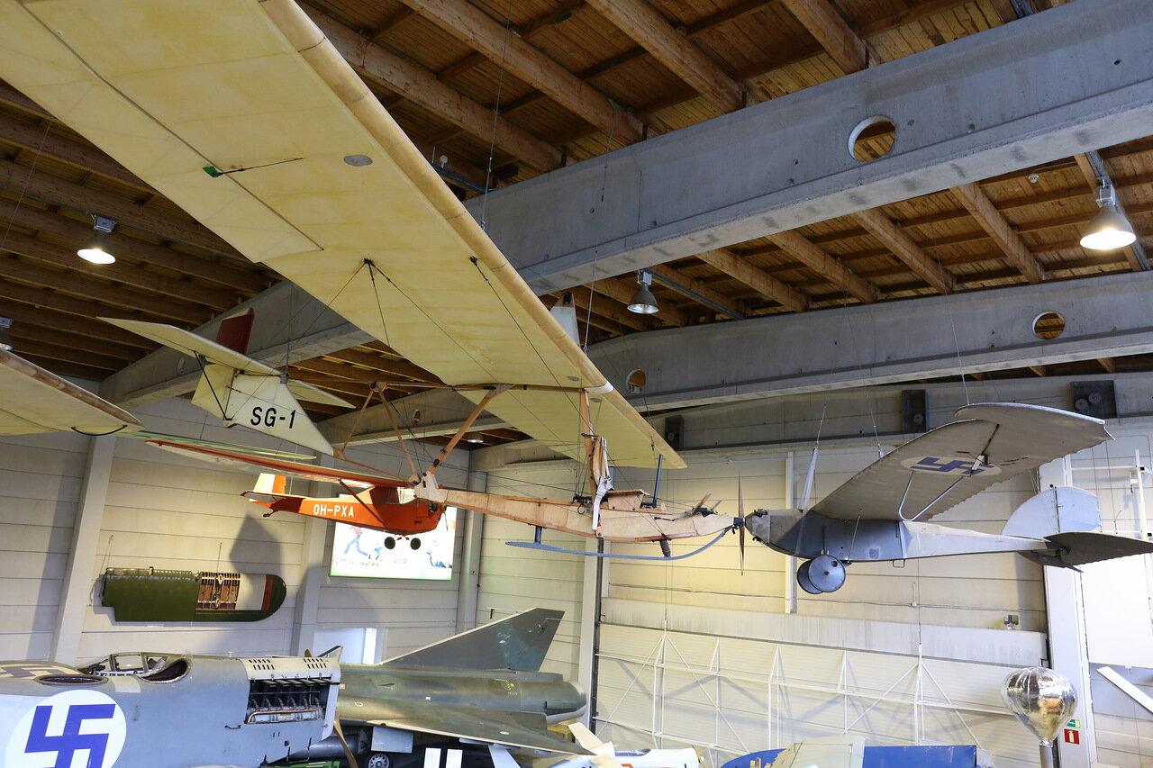 Helsinki-Vantaa Air Museum. glider Schneider DFS 108-14 SG-38 Schulgleiter