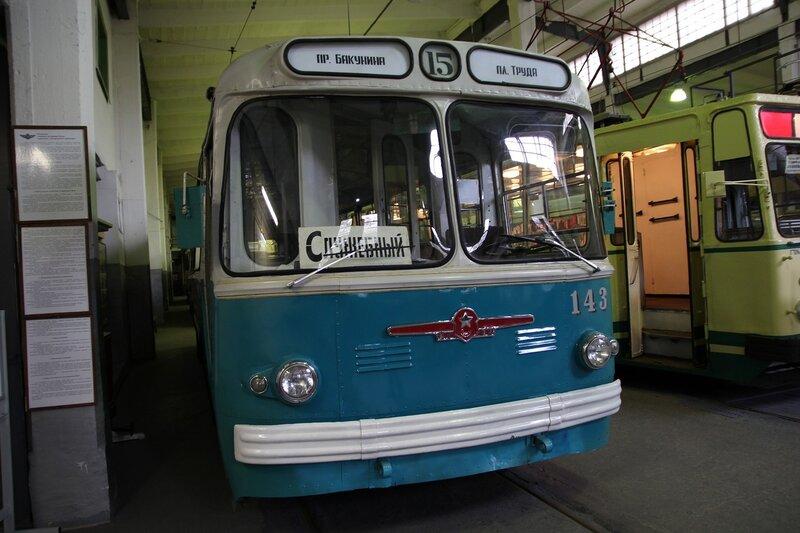 Троллейбус ЗиУ-5Г №143 в музее городского электрического транспорта IMG_8697