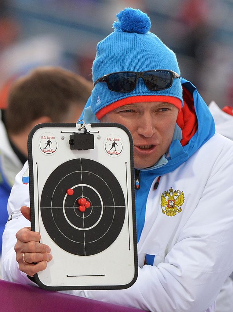 Россия выиграла мужскую эстафету по биатлону, Сочи, 22 февраля 2014 года