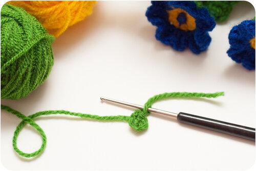 Вязание примулы