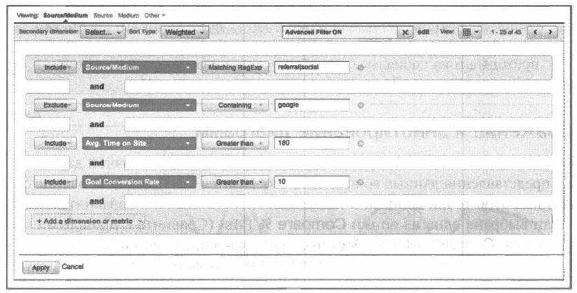 Рис. 4.15. Расширенный фильтр поиска для сложной фильтрации в таблице
