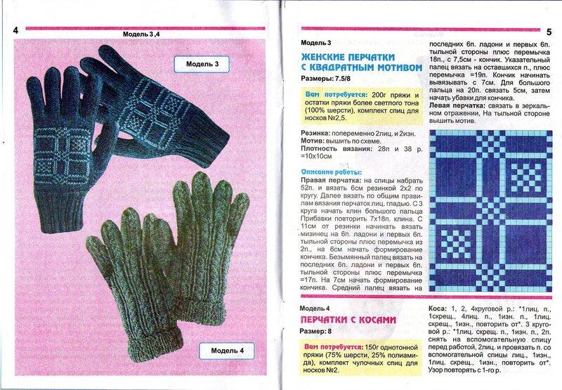 Вязание спицами для перчаток 81