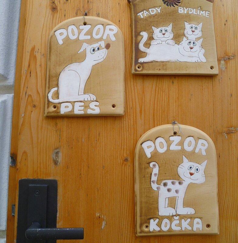 Чехия. Кутна Гора. Пес и кошка. (Czech Republic. Kutna Hora. Dog and cat.)