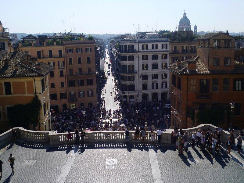 Италия. Рим. Испанская лестница на Piazza di Spagna (Italy. Rome. The Spanish Step).