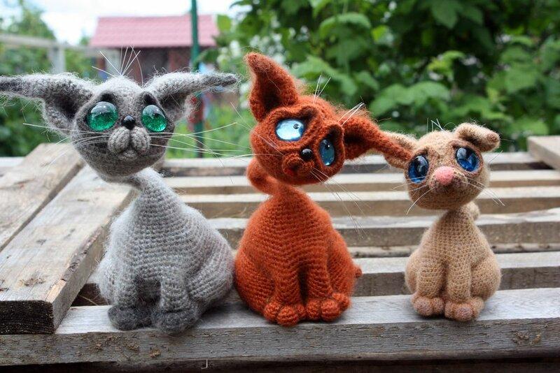 Котики вязаные