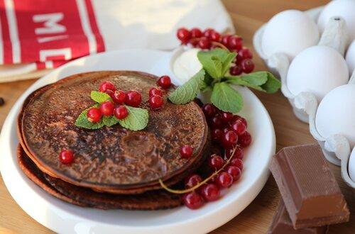 Шоколадные блинчики к завтраку