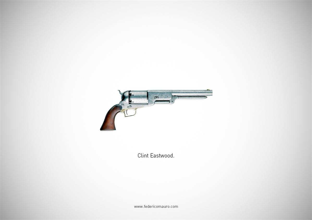 Знаменитые пушки - оружие культовых персонажей / Famous Guns by Federico Mauro - Clint Eastwood