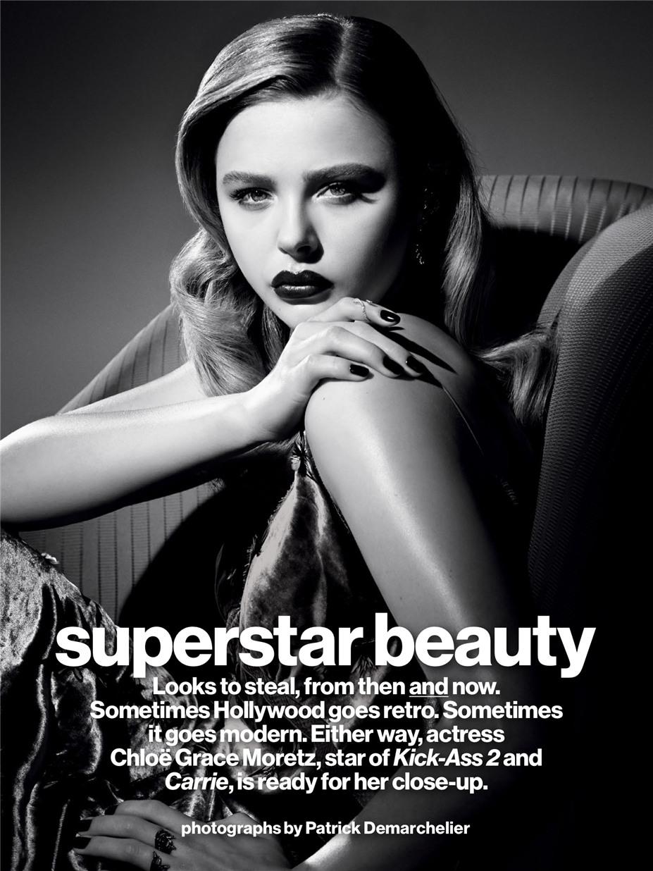 Хлоя Морец / Chloe Moretz by Patrick Demarchelier in Glamour US Magazine september 2013